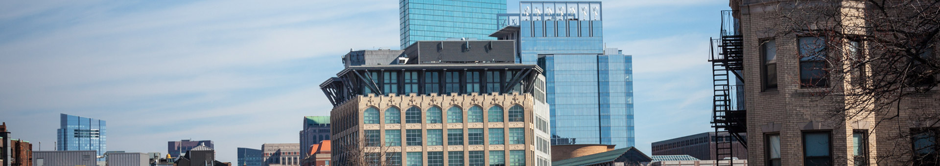 SCS Financial office building among Boston skyline